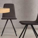 Sillas y mesa de comedor 14f-0002 color negro vista ambiente