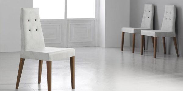 Sillas de comedor 14f-0006 color blanco y madera vista ambiente