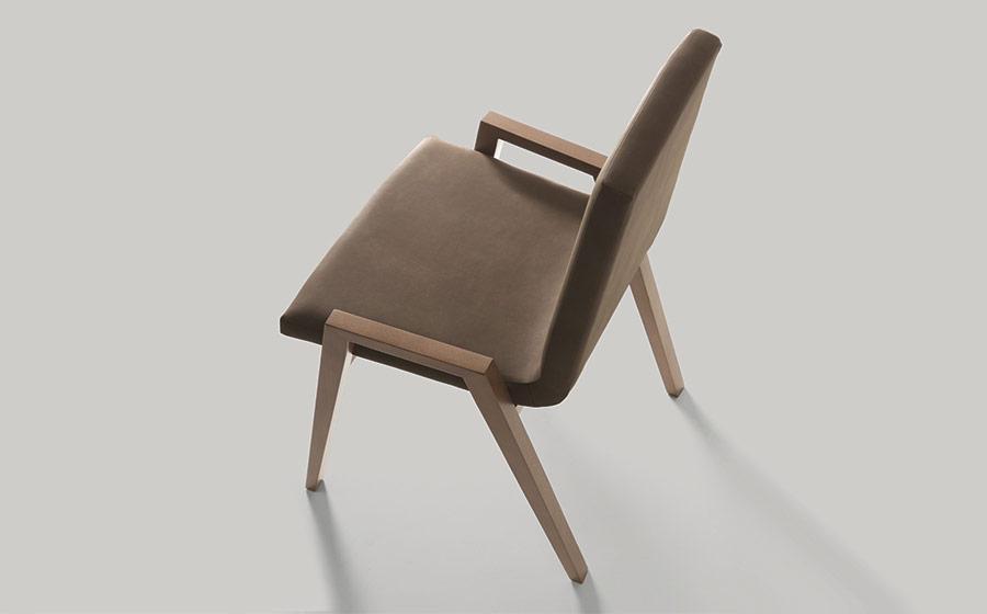Silla de comedor 14f-0010 madera marrón vista técnica top