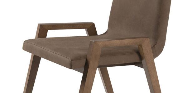Silla de comedor 14f-0010 madera marrón vista técnica de detalle