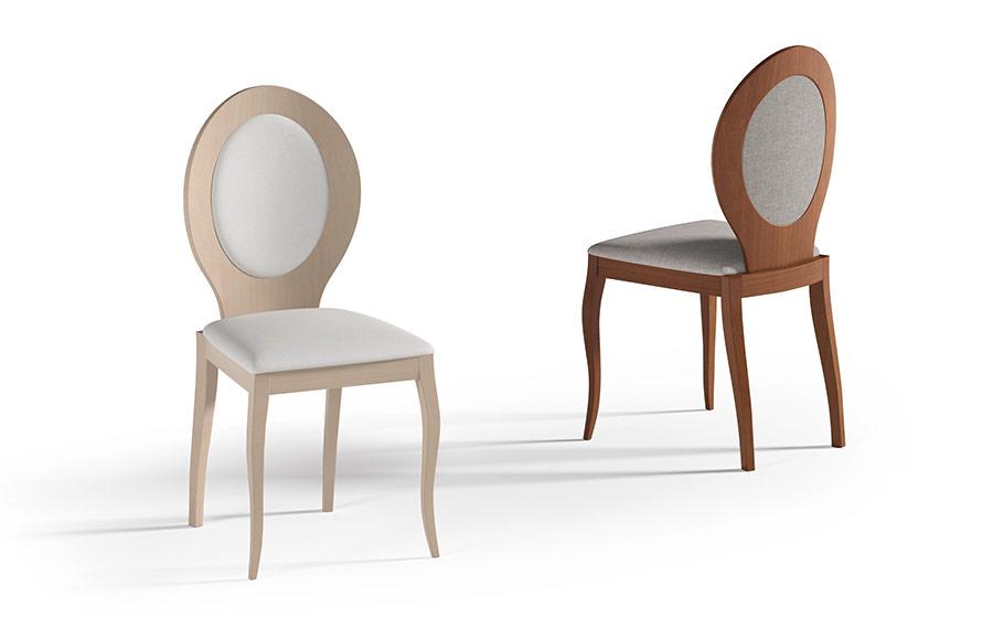 Sillas de comedor 14f-0019 color blanco y madera vistas