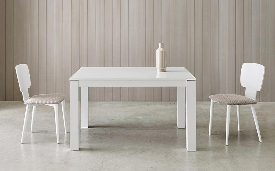 Sillas y mesa de comedor 14f-0008 color blanco vista ambiente