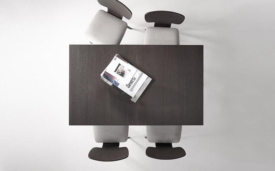Sillas y mesa de comedor 14f-0008 color negro vista ambiente top