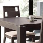 Sillas y mesa de comedor 14f-0011 color negro vista ambiente de detalle
