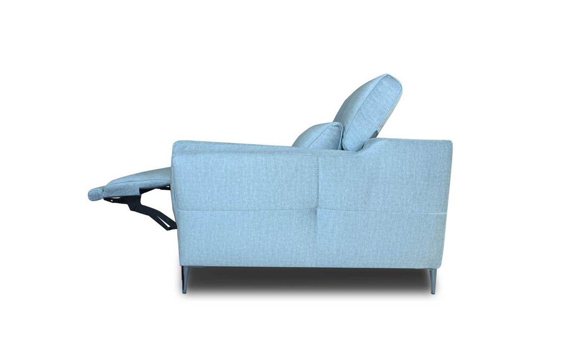 Sofá 2-3 plazas 10d-0002 color azul vista lateral