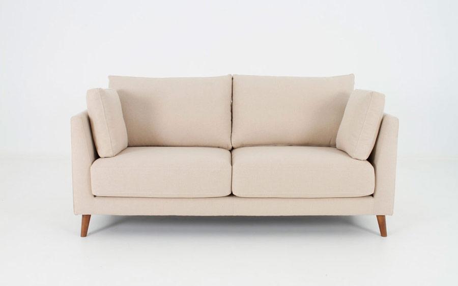 Sofá 2-3 plazas 10d-0005 color beige vista frontal