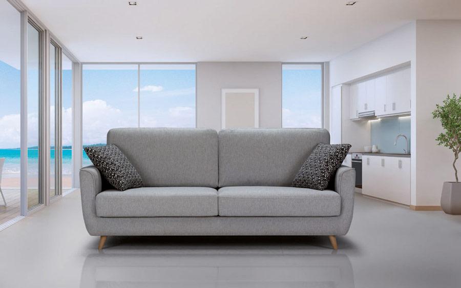 Sofá 2-3 plazas 10d-0006 color gris vista ambiente