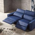 Sofá 2-3 plazas 10d-0013 color azul vista detalle relax