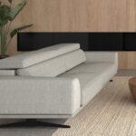 Sofá 2-3 plazas 10d-0016 color gris vista ambiente lateral