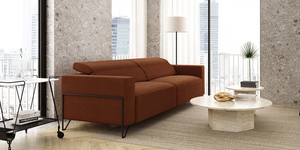 Sofá 2-3 plazas 10d-0018 color marrón vista ambiente