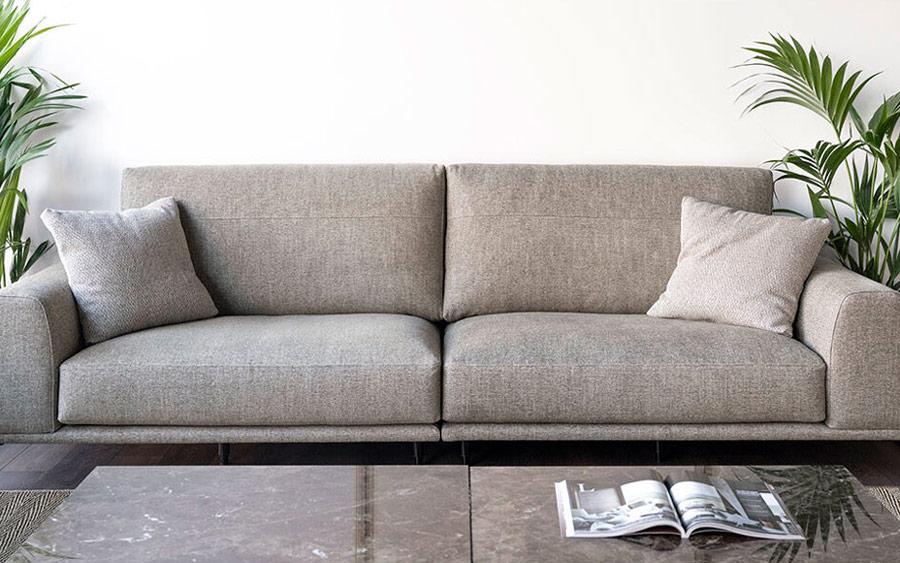 Sofá 2-3 plazas 10d-0019 color gris vista ambiente