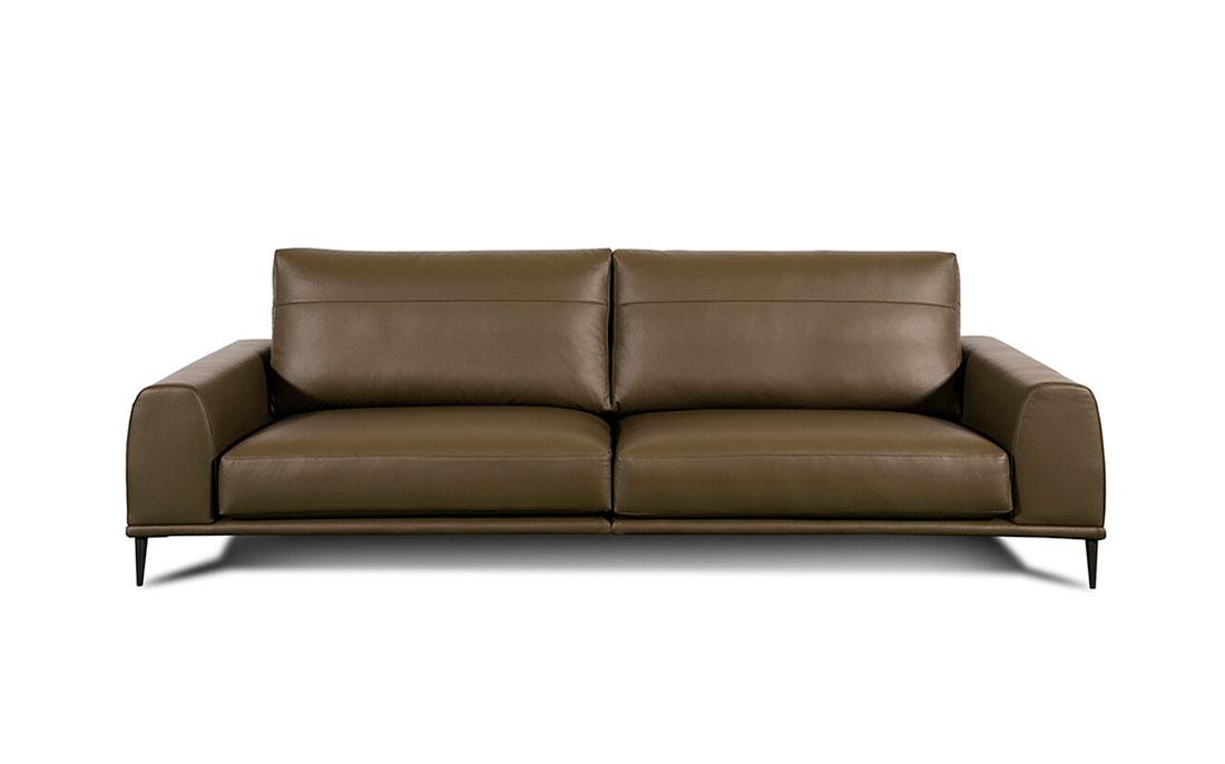 Sofá 2-3 plazas 10d-0019 color marrón vista frontal