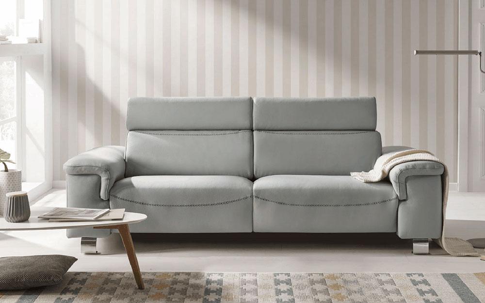Sofá 2-3 plazas 10d-0022 color gris vista ambiente