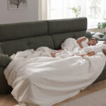 Niñas durmiendo en sofá cama 10e-0008 color verde