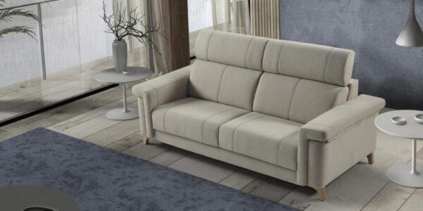 Sofá cama 10e-0004 color gris vista ambiente