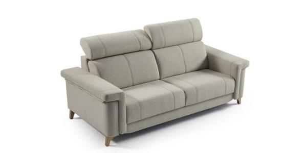 Sofá cama 2-3 plazas 10e-0004 color gris vista técnica