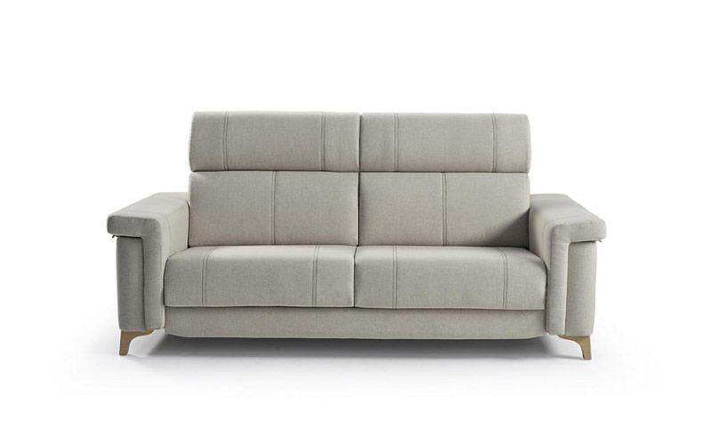 Sofá cama 2-3 plazas 10e-0004 color gris vista técnica frontal
