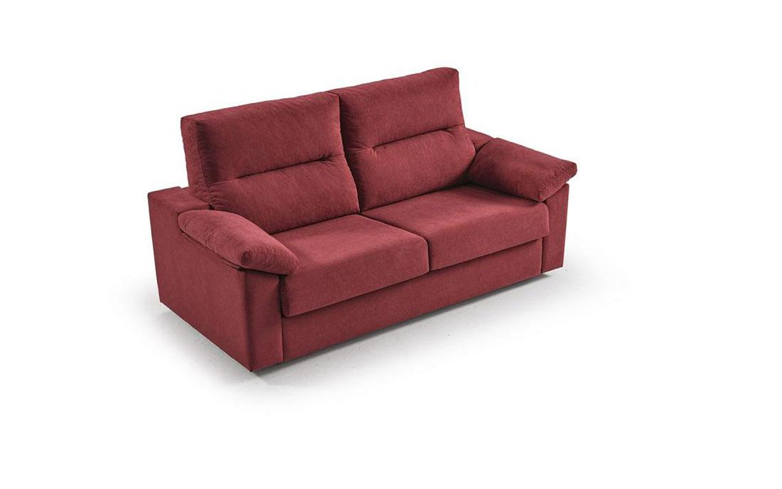 Sofá cama 2-3 plazas 10e-0002 color rojo vista técnica
