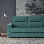 Sofá cama 2-3 plazas 10e-0003 color verde vista ambiente