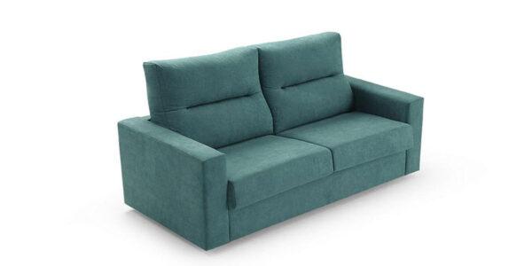 Sofá cama 2-3 plazas 10e-0003 color verde vista técnica