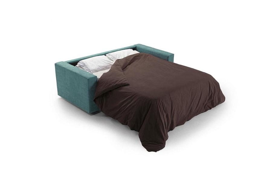 Sofá cama 2-3 plazas 10e-0003 color verde vista detalle de cama