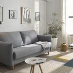Sofá cama 2-3 plazas 10e-0005 color gris vista ambiente