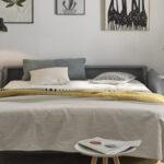 Sofá cama 2-3 plazas 10e-0005 color gris vista detalle de la cama