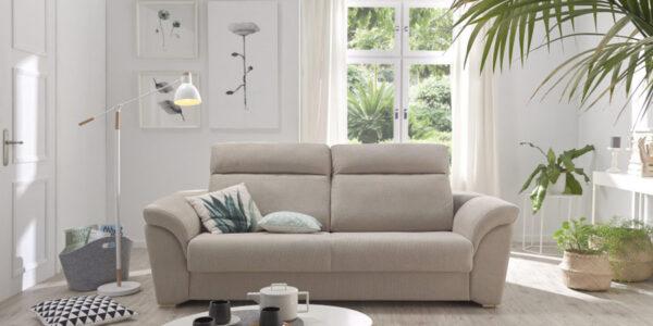 Sofá cama 2-3 plazas 10e-0006 color beige vista frontal
