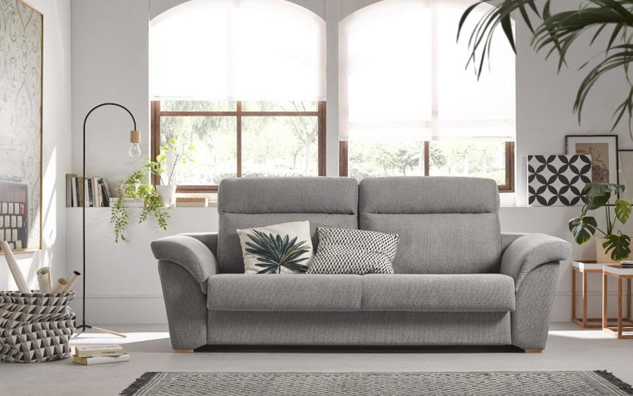 Sofá cama 2-3 plazas 10e-0006 color gris vista ambiente