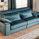 Sofá cama 2-3 plazas 10e-0007 color verde vista de ambiente