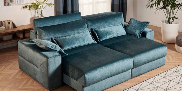Sofá Cama 2-3 plazas 10e-0007 color verde vista de asientos deslizantes
