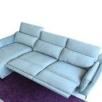 Sofá Chaise Longue 10b-0002 azul vista técnica top