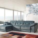Sofá relax chaise longue 10b-0003 azul vista ambiente
