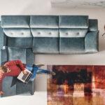 Sofá relax chaise longue 10b-0003 azul vista ambiente top