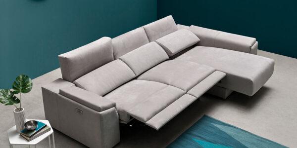 Sofá chaise longue 10b-0007 color gris vista detalle sillón deslizante