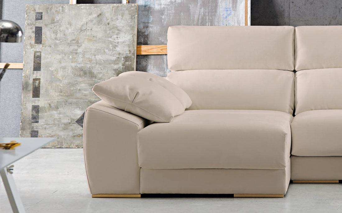 Sofá chaise longue 10b-0004 color beige vista detalle