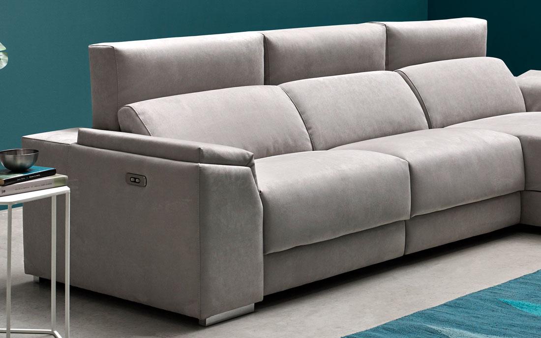 Sofá chaise longue 10b-0007 color gris vista detalle