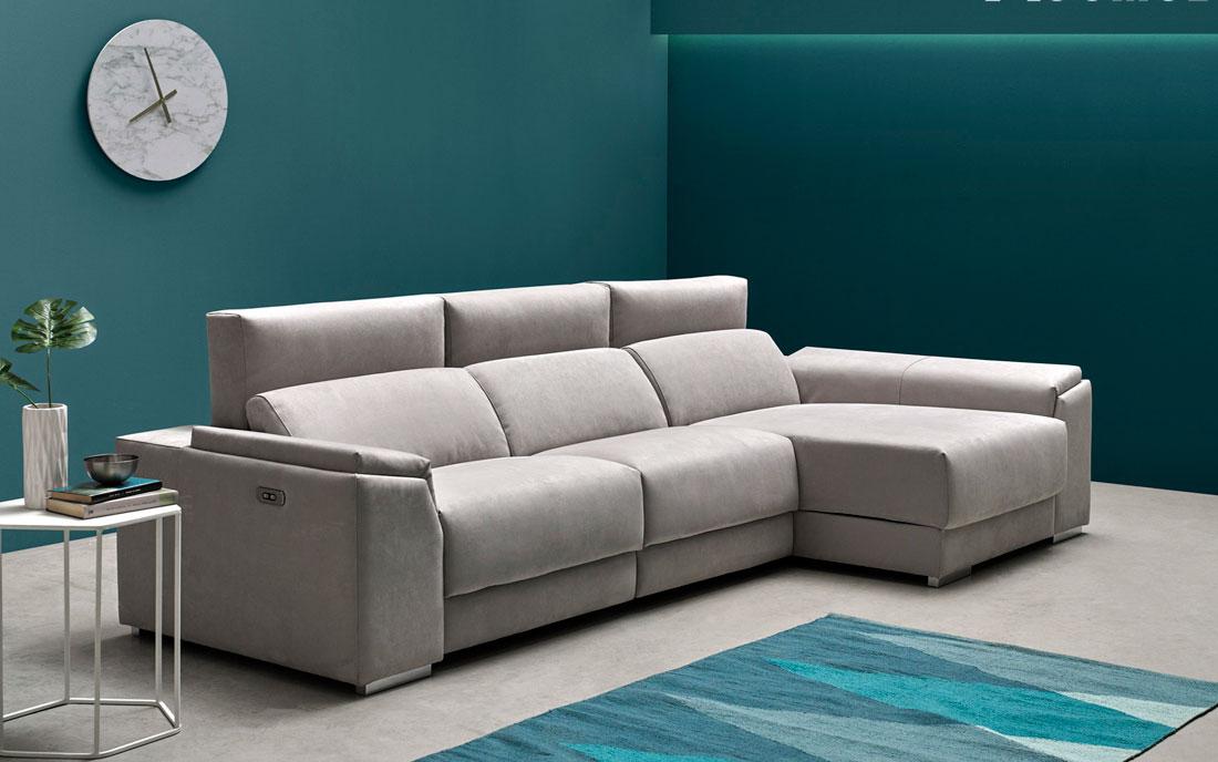 Sofá chaise longue 10b-0007 color gris vista ambiente