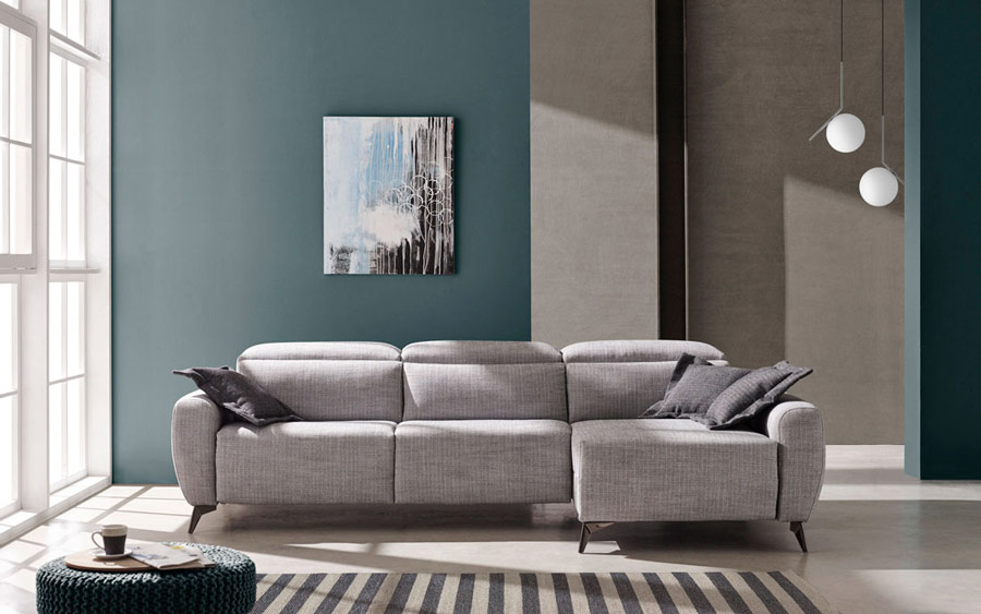sofá chaise longue 10b-0012 color gris vista frontal