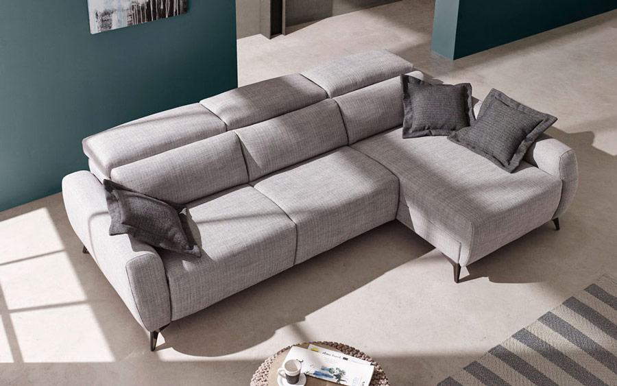 sofá chaise longue 10b-0012 color gris vista ambiente