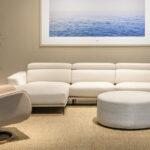 Sofá chaise longue 10b-0014 marrón vista ambiente