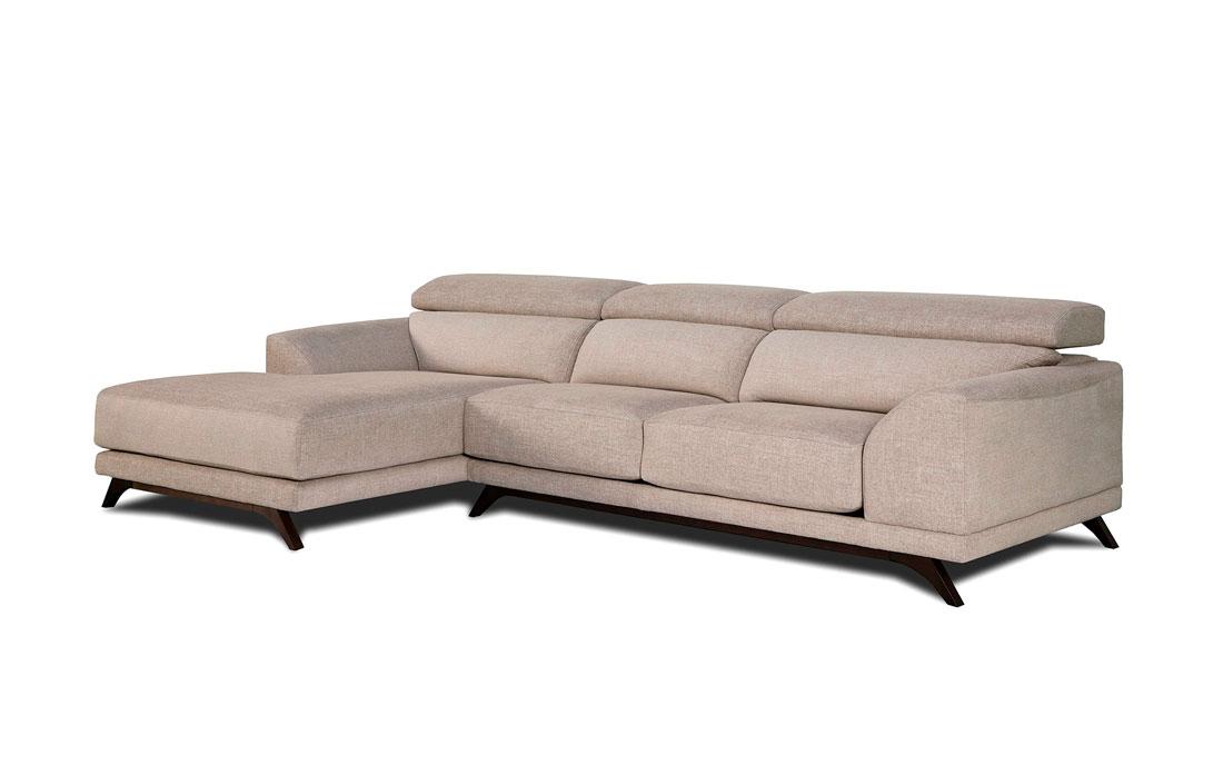 Sofá Chaise Longue 10b-0007 color beige vista técnica