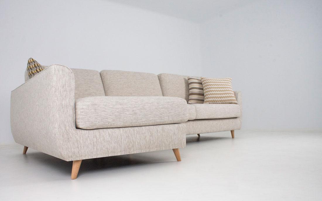 Sofá Chaise Longue 10b-0022 color beige vista de detalle