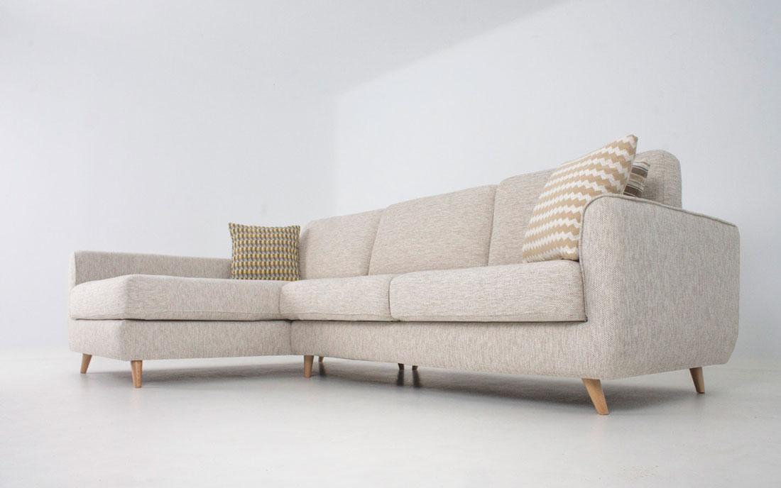 Sofá Chaise Longue 10b-0022 color beige vista técnica