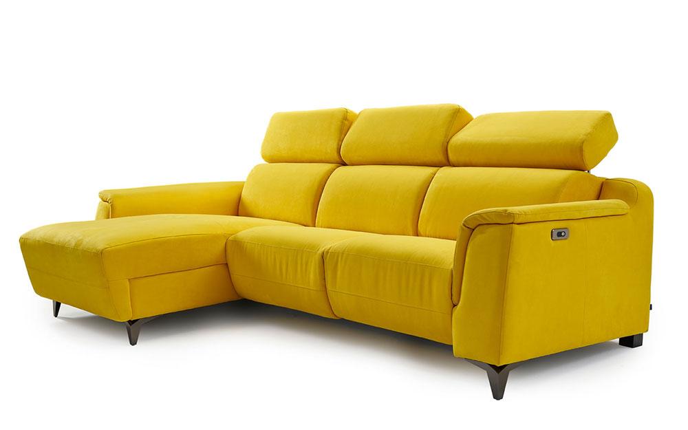 Sofá Chaise Longue 10b-0024 color amarillo vista técnica