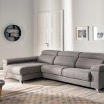 Sofá Chaise Longue 10b-0025 color gris vista de ambiente