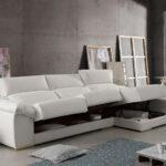 Sofá chaise longue 10b-0005 color beige vista detalle asientos arcón