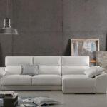 Sofá chaise longue 10b-0005 color beige vista ambiente frontal