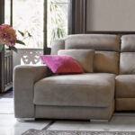 Sofá chaise longue 10b-0006 color beige vista de detalle