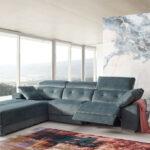 Sofá relax chaise longue 10b-0003 azul vista ambiente abierto